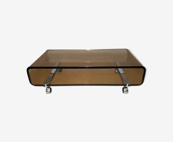 Vintage coffee table in plexiglas 1970