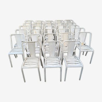Suite of 28 Tolix T4 chairs