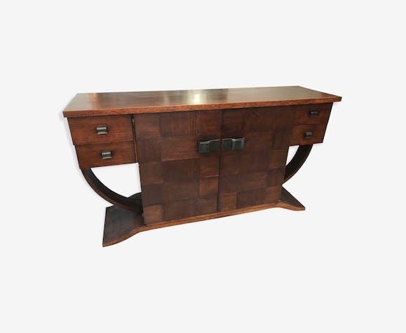 Oak Art Deco Buffet Wood Wooden Art Deco Yfofirk