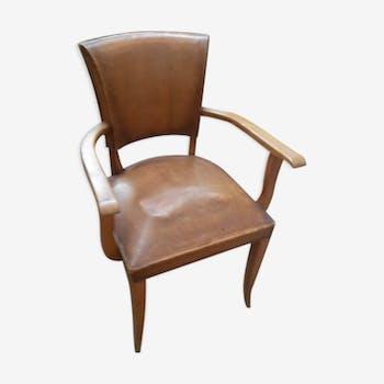 paire de fauteuils des ann es 30 en cuir cuir marron art d co b8r4x8y. Black Bedroom Furniture Sets. Home Design Ideas