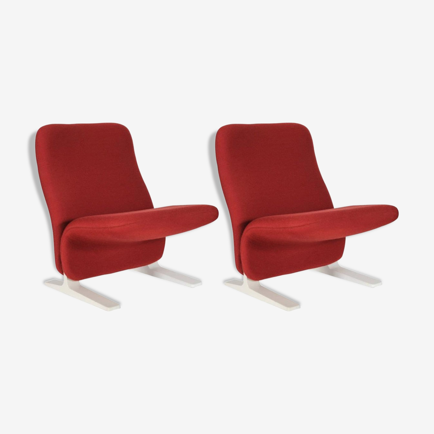 """Paire de fauteuils """"Concorde"""" vintage par Pierre Paulin pour Artifort 1950s"""