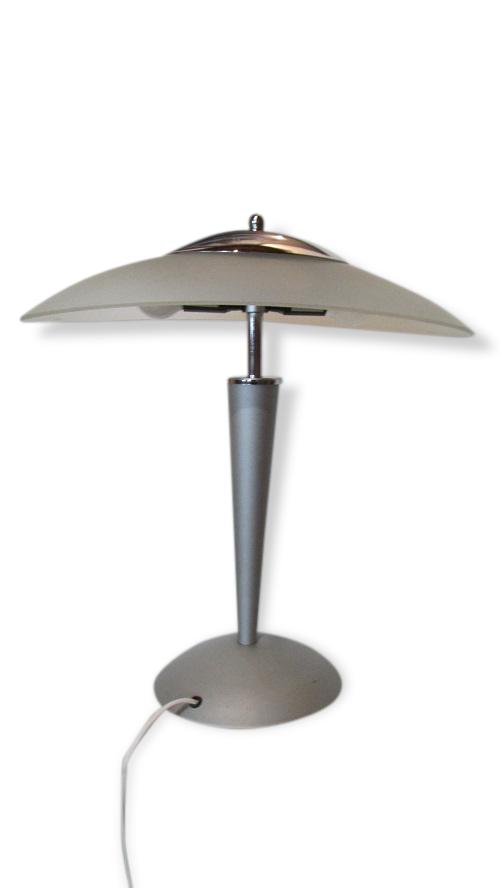 Lampe Champignon Vintage, Alu, Verre Et Inox - Métal - Gris