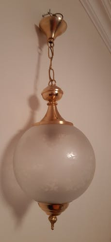 1900-style glass and brass suspension