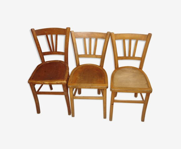 3 chaises bistrot Lutherna de 1930/40