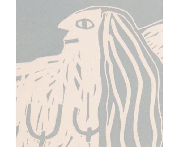 "Linogravure ""la centaure"""