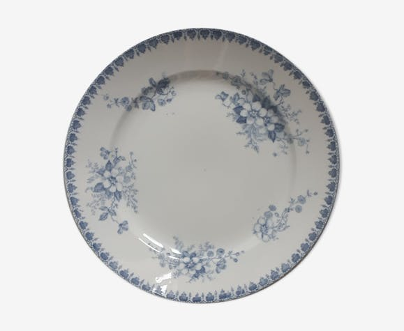 Assiette Anna bleue