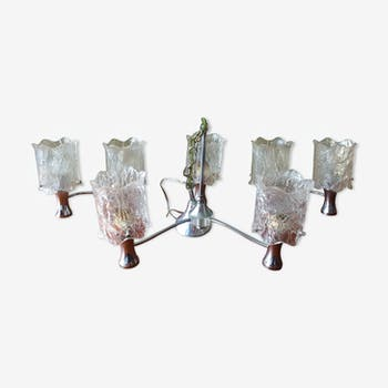 Vintage chandelier and wall lamps