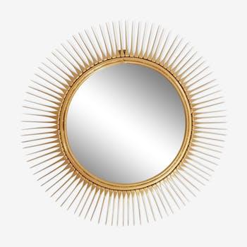 Miroir soleil métal doré des années 1950