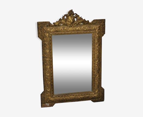 Miroir bois doré 58x85cm