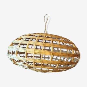 Suspension plafonnier en rotin et osier vintage d 39 occasion for Plafonnier osier