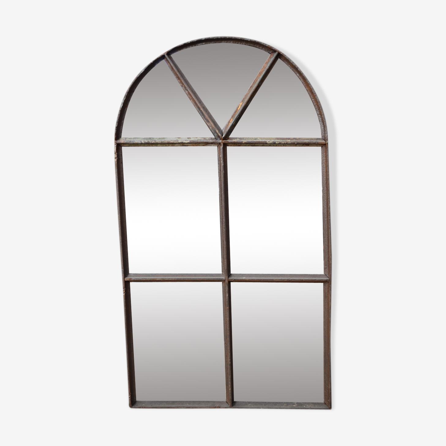 Miroir d'atelier en fonte 74 x 42cm