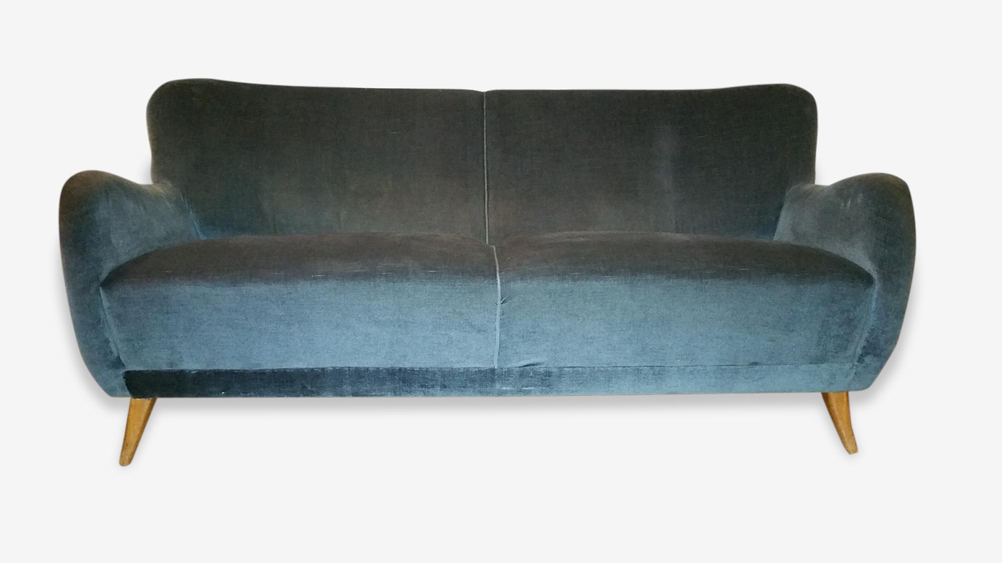 1 canapé sofa 3 places années 50 60 danois sculptural