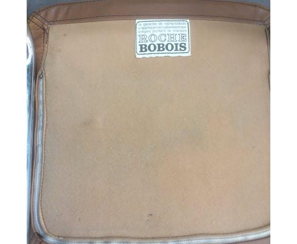 Suite de 4 chaises cuir Roche-Bobois 1970