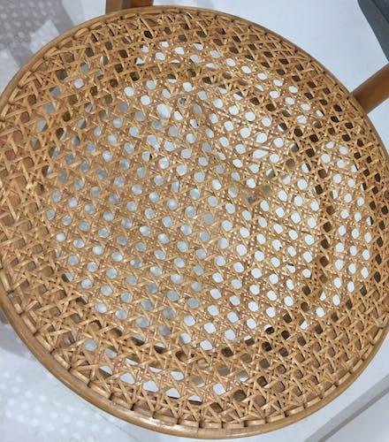 Série de 4 chaises cannées