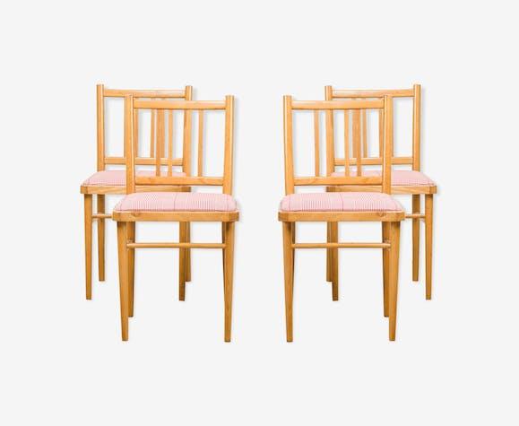 Ensemble de 4 chaises à manger de Ton, années 1970