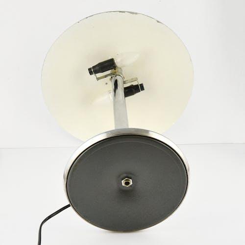 Chrome table lamp type 1215, mushroom NF, luminaires électricité France 70s