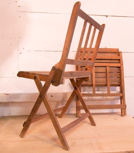Paire de chaises pliantes enfant