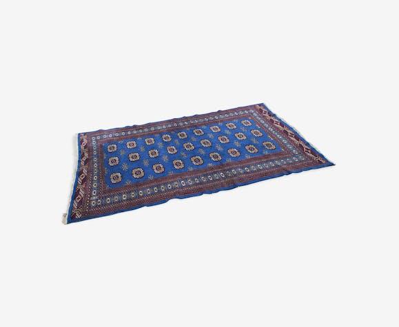 Ancien tapis Perse Boukhara Pakistan laine fait main 203 x 129 cm