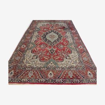 Tapis persan tabriz Iran 198 x 302 cm vers 1960 décor de folie