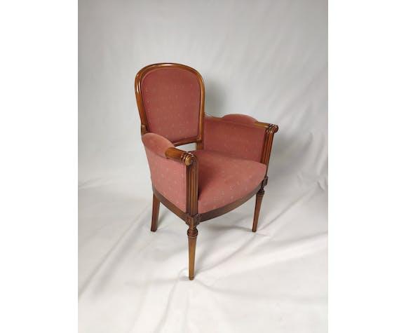 Fauteuil rose style Louis XVI