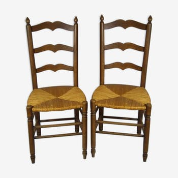 Pair of fine craft chairs of the 1970s