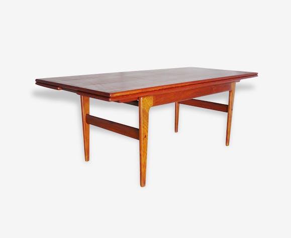 Table Basse Scandinave Métamorphique Teck Bois Couleur