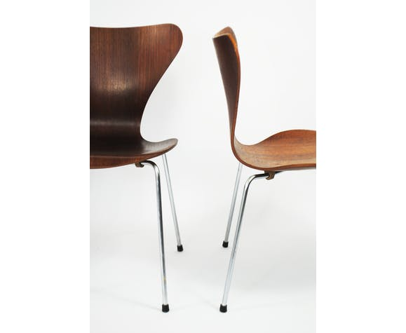 Chaise modèle 3107, série 7 papillon par Arne Jacobsen pour Fritz Hansen