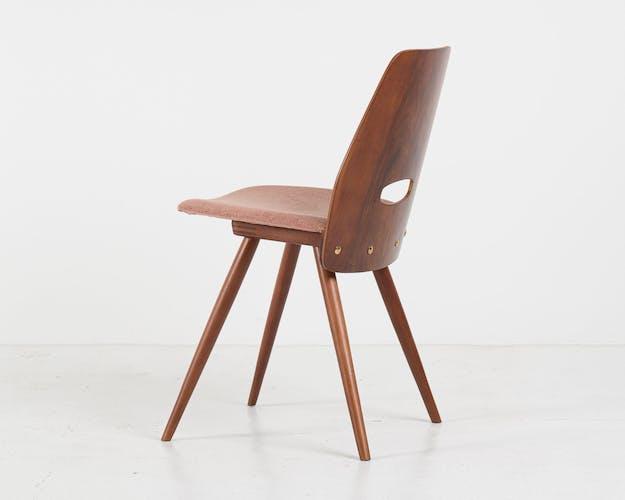 Lot de 4 chaises à manger par František Jirák pour Tatra, années 1960