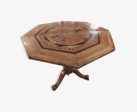 Table Octogonale Bois Matériau Bois Couleur Classique