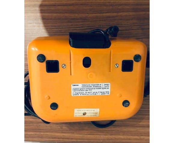Téléphone vintage orange Telic design F.Guirin