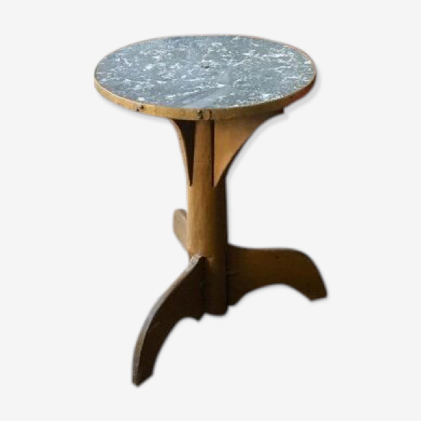 Table bistrot marbre et bois