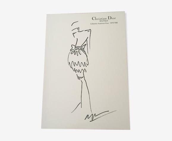 Press fashion illustration Christian Dior collection  79/80