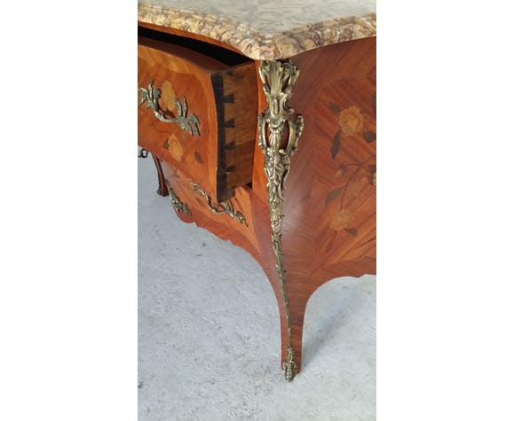 Commode Louis XV marqueterie