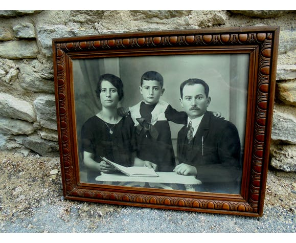Old photo under glass