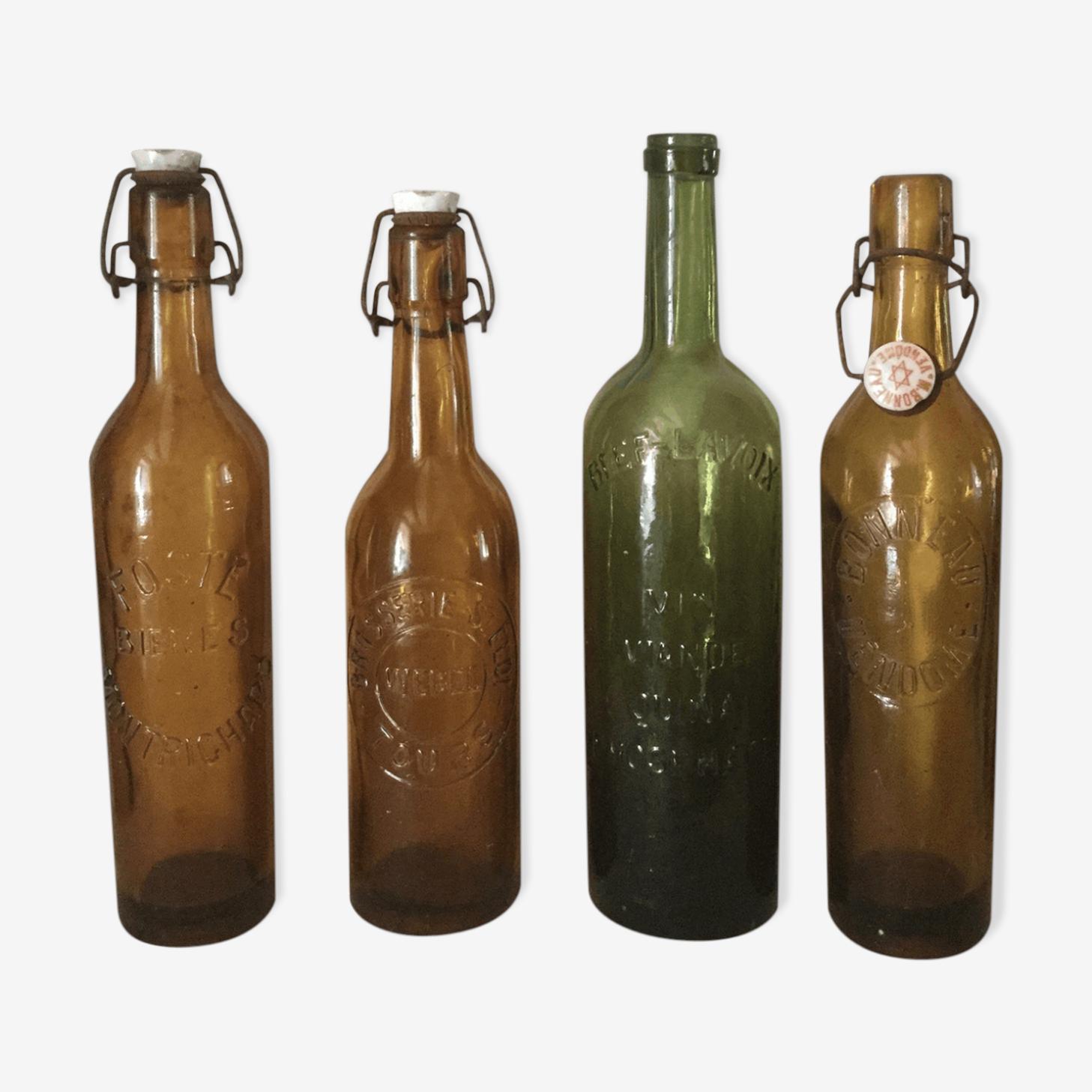 Ensemble de bouteilles 1900 ambre