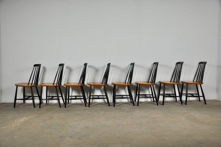 Swedish Slat-Back Chair from Nesto, 1960s