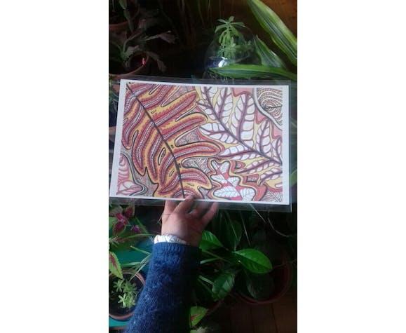 Fougère illustration végétale