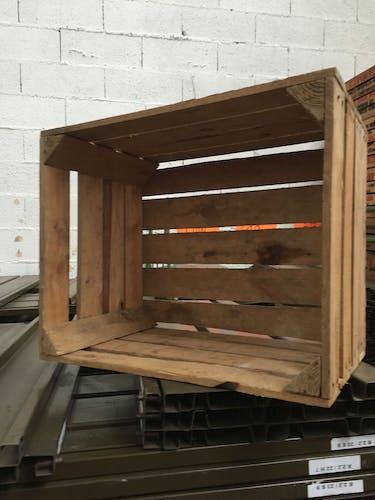 Caisse vintage en bois whisky USA Stewart vintage wooden Crates w Ad