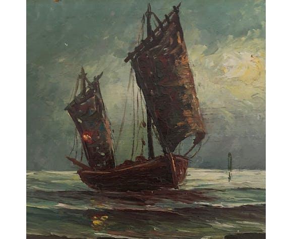 Peinture marine à l'huile