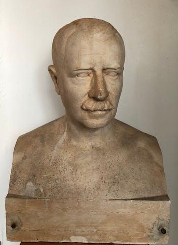 Buste d'homme en platre André Lavaysse