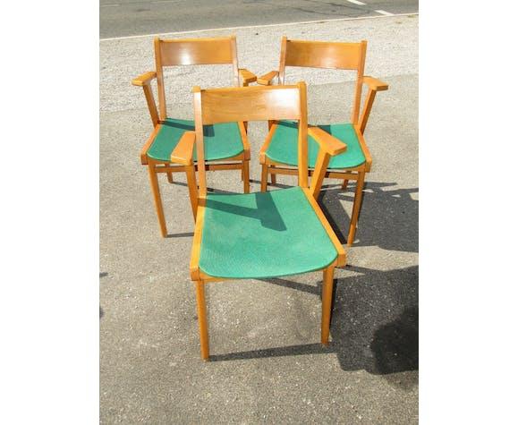 Lot de 8 chaises style scandinave danish années 60-70