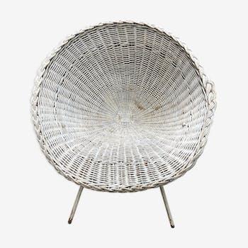 1950s wicker/rotin chair