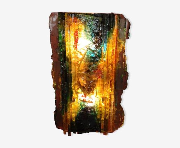 Applique en verre multicolore années 60 verre et cristal