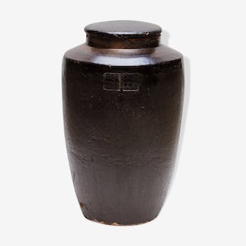 Japanese ceramic jar