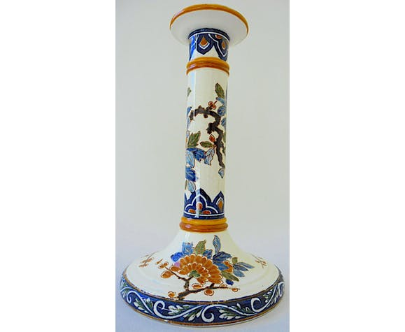 Gien's ancient earthenware candlestick