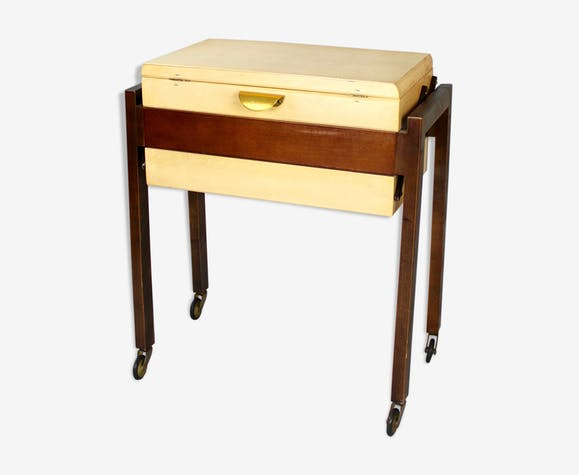 Boîte à couture vintage Mid Century stockage
