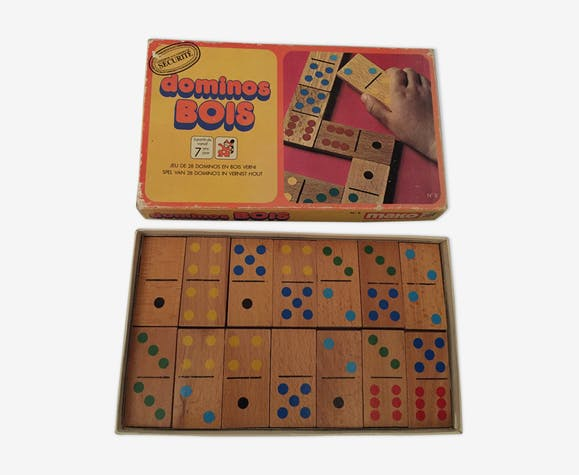 Old wooden dominoes game