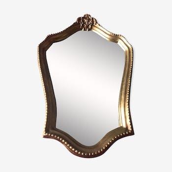 Miroir ancien cadre doré 46x30cm