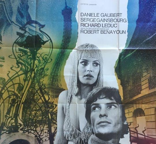 """Affiche """"Paris n'existe pas"""" Serge Gainsbourg 120x160cm 1969"""