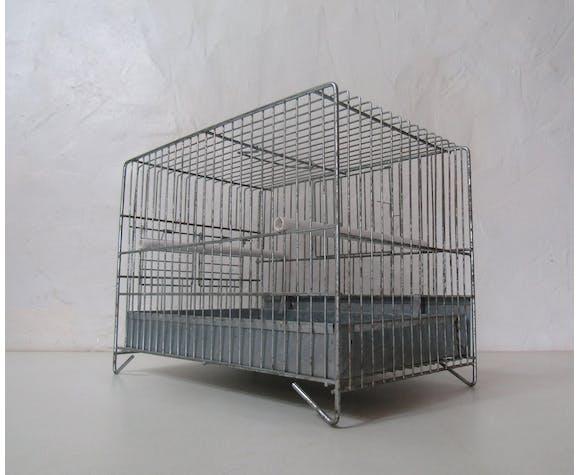 Cage à oiseau en zinc
